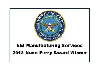 EEI Manufacturing Services announced as 1 of 10 Awards winners Nationally